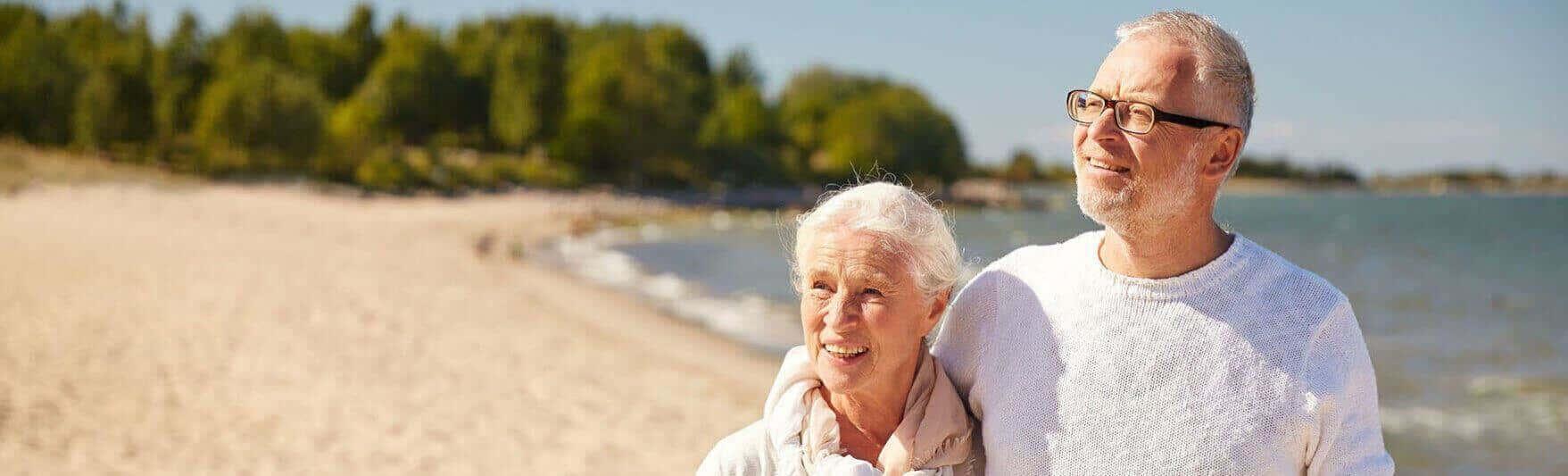 old couple on beach